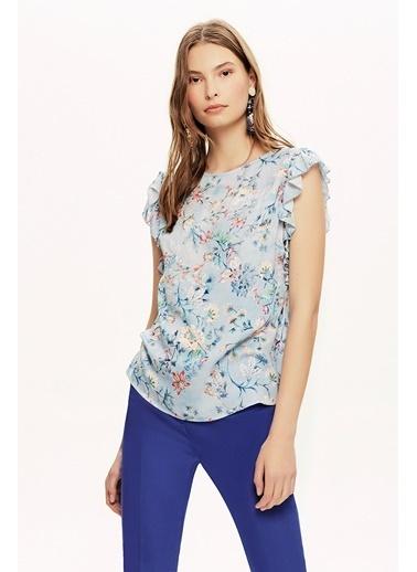 NaraMaxx Fırfırlı  Bluz Renkli